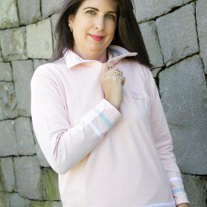 Blusaco com Ziper detalhes tiras laterais bicolor em moletinho